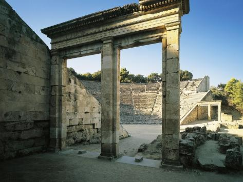 Greece, Peloponnesus, Epidaurus Hellenistic Theatre Designed by Architect Polyclitus Giclée-Druck