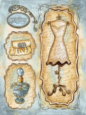 paris boutique ii print van gregory gorham bij. Black Bedroom Furniture Sets. Home Design Ideas