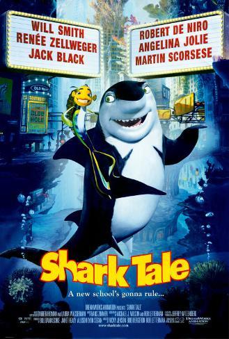 Große Haie– Kleine Fische Doppelseitiges Poster