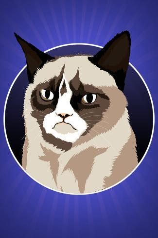 Grumpy Cat Cartoon Poster