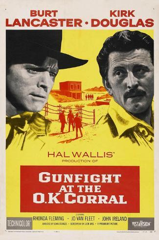 Gunfight At the O. K. Corral, 1957, Directed by John Sturges Giclée-Druck