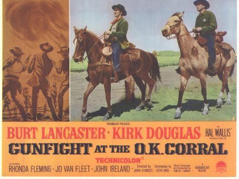 Gunfight at the O.K. Corral, 1963 Kunstdruck