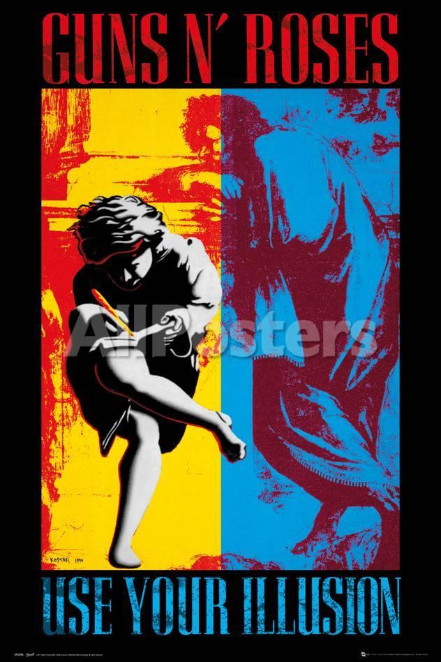 Guns & Roses- Illusion Album Cover Kunstdrucke bei AllPosters.de
