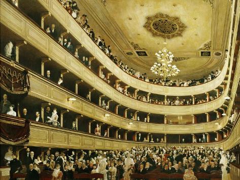 Auditorium in the Altes Burgtheater Giclée-Druck