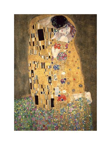 der kuss ca 1907 gicl e druck von gustav klimt bei. Black Bedroom Furniture Sets. Home Design Ideas