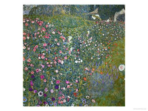Italian Garden Landscape, 1917 Giclée-Druck