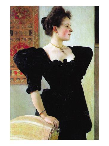 Portrait of Marie Breunig Kunstdruck
