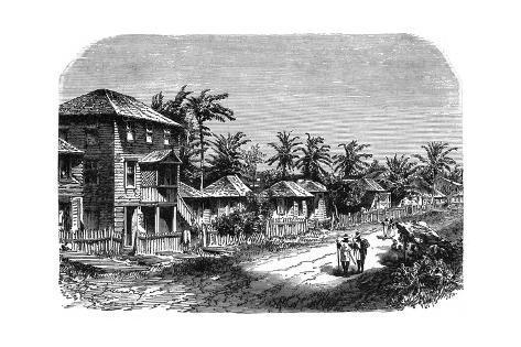 Guyane Francaise Scene Giclée-Druck