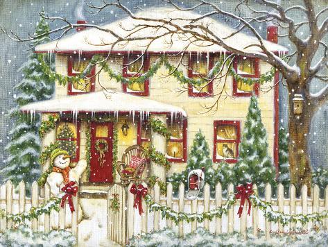 weihnachten zu haus poster von gwendolyn babbitt bei. Black Bedroom Furniture Sets. Home Design Ideas