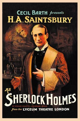 H. A. Saintsbury as Sherlock Holmes Wandtattoo