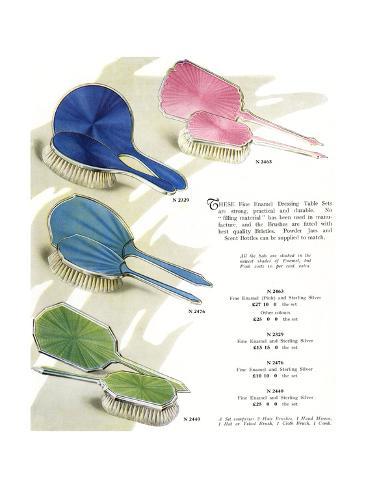Hair Brush Sets Giclée-Druck