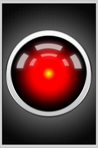 Hal 9000 Camera Eye Screen Movie Poster Poster