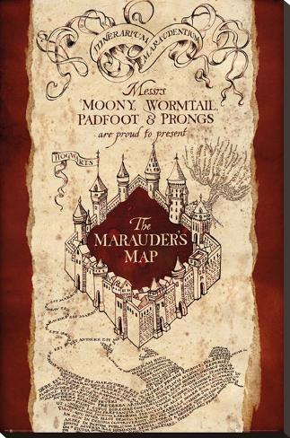harry potter marauder 39 s map bedruckte aufgespannte leinwand bei. Black Bedroom Furniture Sets. Home Design Ideas