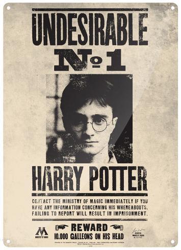 Harry Potter - Undesirable #1 Blechschild