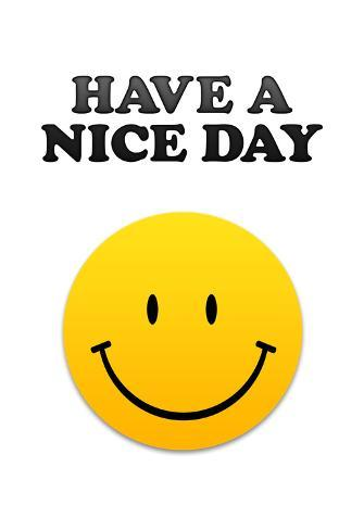 Have A Nice Day Smiley Face Art Print Poster Posters Bij Allpostersnl