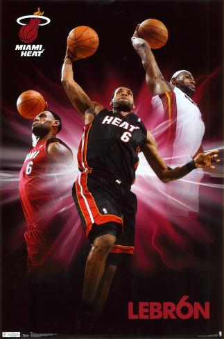 Heat - Lebron James Poster