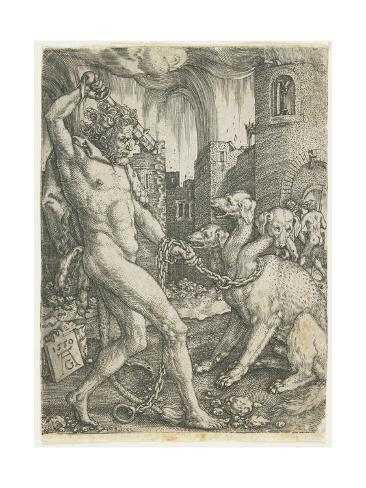 Hercules Chains Cerberus, 1550 Giclée-Druck