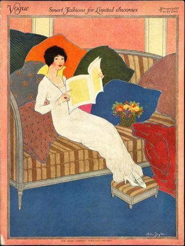 Vogue Cover - February 1913 Giclée-Premiumdruck
