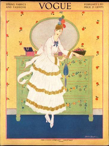 Vogue Cover - February 1915 Giclée-Premiumdruck