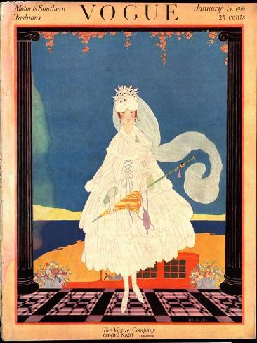 Vogue Cover - January 1916 Giclée-Premiumdruck