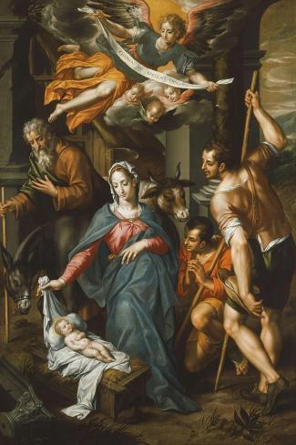 The Adoration of the Shepherds Giclée-Druck