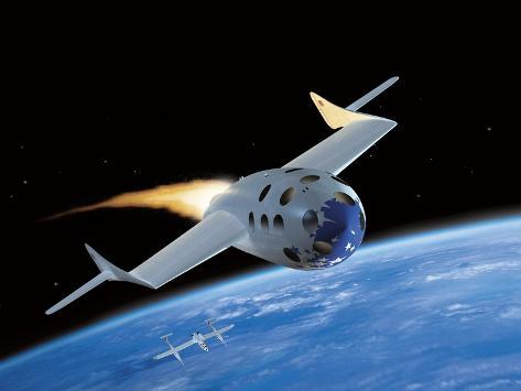 SpaceShipOne, Artwork Fotografie-Druck
