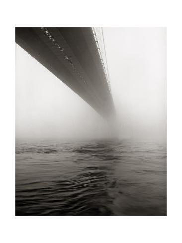 brooklyn br cke im nebel fotografie druck von henri silberman bei. Black Bedroom Furniture Sets. Home Design Ideas