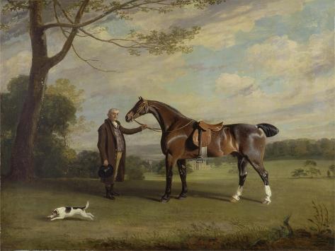 The Earl of Shrewsbury's Groom Holding a Hunter, C.1800 Giclée-Druck