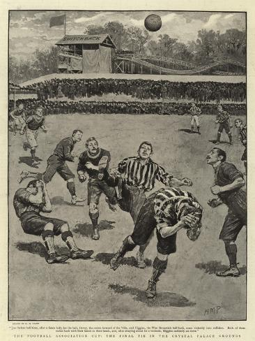 The Football Association Cup, the Final Tie in the Crystal Palace Grounds Giclée-Druck