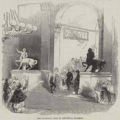 Her Majesty's Visit to the Royal Academy Giclée-Druck
