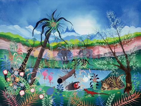 The Garden of Eden Giclée-Druck