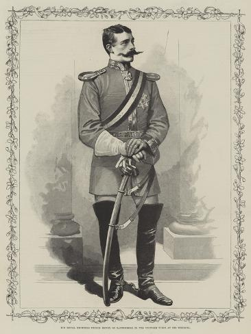 His Royal Highness Prince Henry of Battenberg in the Uniform Worn at His Wedding Giclée-Druck