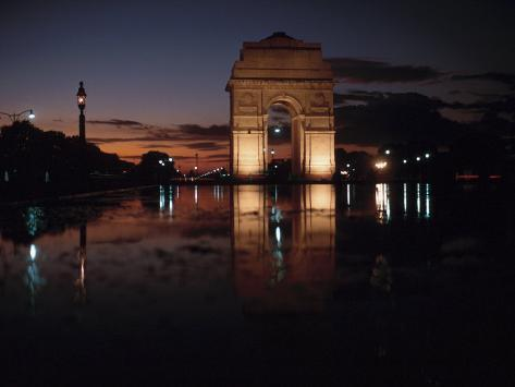 Historical Gate of India at Sunset in Bombay, India Fotografie-Druck
