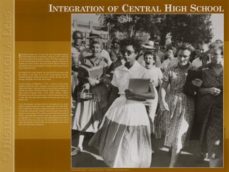 History Through A Lens - Integration at Central High School Kunstdruck