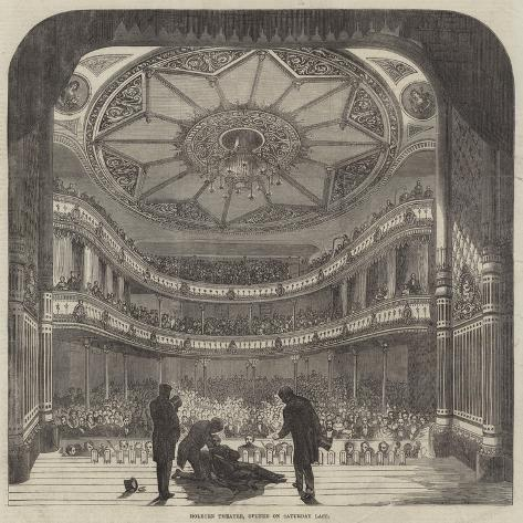 Holborn Theatre, Opened on Saturday Last Giclée-Druck