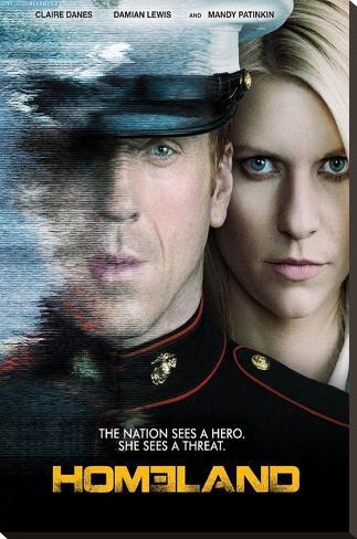 Homeland Television Poster Bedruckte aufgespannte Leinwand