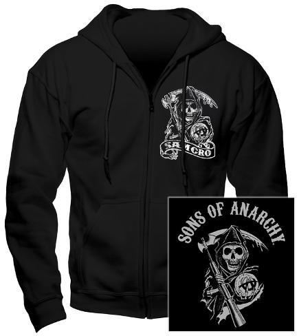 Hoodie: Sons Of Anarchy - Samcro (Front/Back) Kapuzenjacke mit Reißverschluss