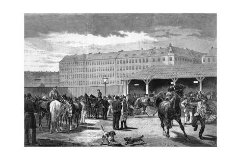 Horse Market Denmark Giclée-Druck