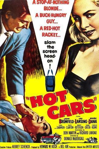 HOT CARS, poster, 1956 Kunstdruck