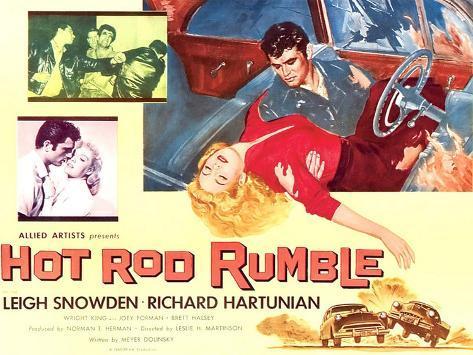 Hot Rod Rumble Giclée-Premiumdruck