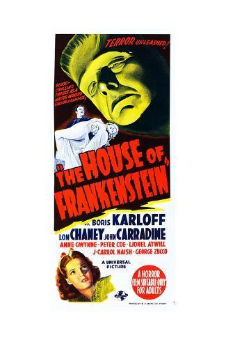 House of Frankenstein, Boris Karloff, Anne Gwynne, 1944 Giclée-Druck