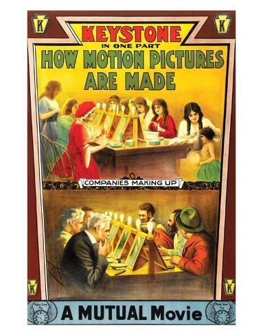 How Motion Pictures Are Made - 1914 Giclée-Druck
