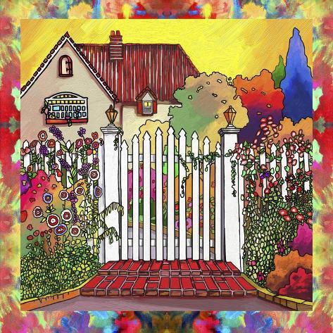 pop art deco cottage gicl edruk van howie green bij. Black Bedroom Furniture Sets. Home Design Ideas