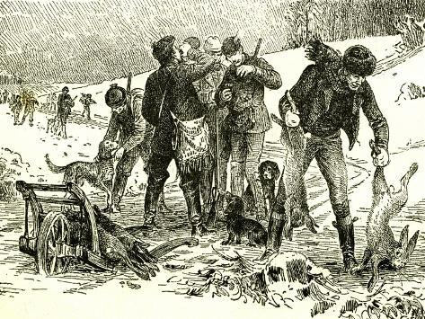 Hunting Austria 1891 Giclée-Druck