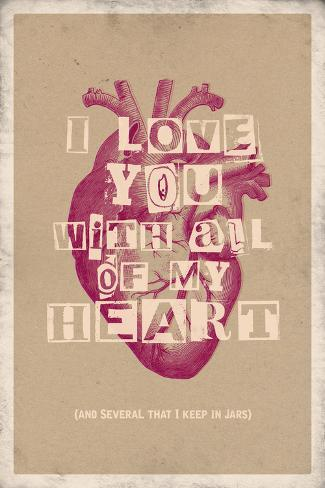 I Love You With All My Heart Posters Bij Allpostersnl