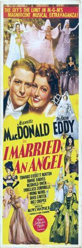 I Married an Angel, Jeanette MacDonald, Nelson Eddy, 1942 Kunstdruck