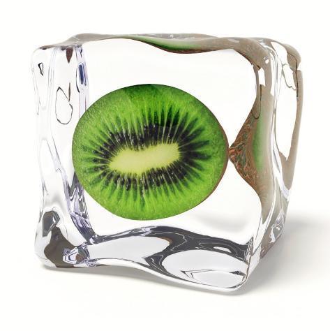 Iced Kiwi Kunstdruck