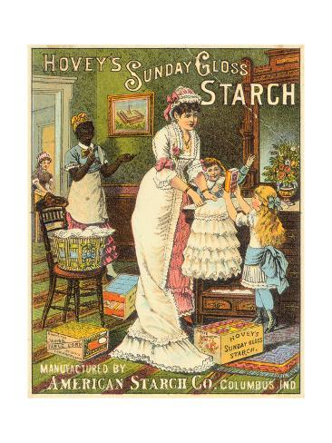 Illustrated Advertisement for Starch Giclée-Druck