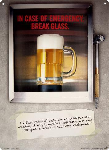 Im Notfall Glas einschlagen Blechschild