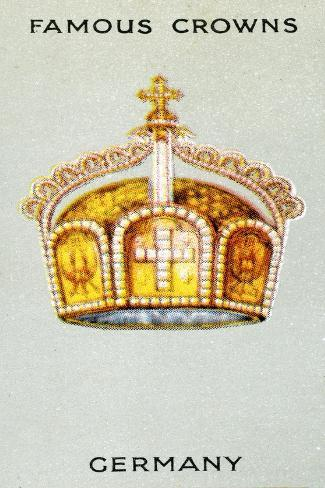 Imperial State Crown of Germany, 1938 Giclée-Druck